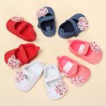 Bebis Småbarn Polka Dot Blomster Skor Mjuk Sula Förtjusande Prewalker Barnprodukter