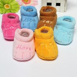 Baby warme Kleinkind Baumwollrutschfeste weiche Sohle Schuhe