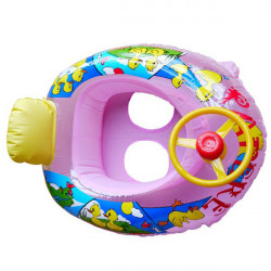 Baby Wheel Horn Seat Float SwimmingBoat Inflatable Swim Ring