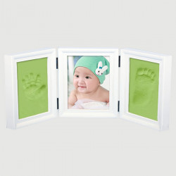 Baby Wooden DIY Frame Handprint Footprint Inkpad  Development Gift