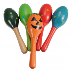 Baby Wooden Maraca Rattles Shaker Percussion Musical Instrument Toys