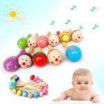 Baby Wooden Sand Hammer Maracas Rattle Bell Instruments Toys Baby & Mother Care