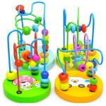 Baby Holzspielzeug Mini Rund Korn Draht Labyrinth Lernspiel Baumkugel Baby Kinder & Mutterpflege