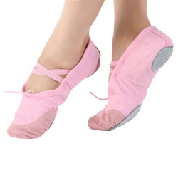 Ballet Dance Gymnastics Shoes Girl Soft Women Canvas Fitness Slippers