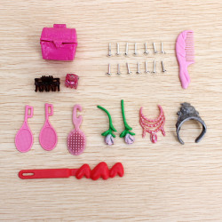 Barbie Doll Accessories Necklaces Earrings Crown Belt Toys