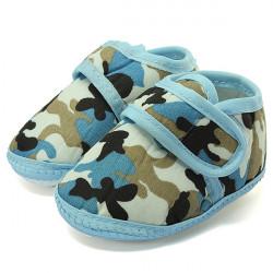 Camouflage Mjuk Sole Crib Prewalker Skor Baby Boy Infant Spädbarn