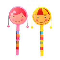 Cartoon Smiley Rattle Drums doppelseitigen Handbell Baby Wave Drum