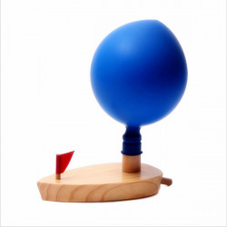 Kinderballon Powered Wooden Boat Traditionelle Schwimmen Bad Spielzeug