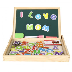Kinderholzdoppelseitig Alphabet Magnetschreibentafel Skizzenbuch