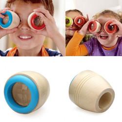 Kinderholz Kaleidoskop Polygonspiegel magische Bee  eye Spielzeug