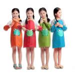 Childerns Kinder Cartoon Frosch gedruckte wasserdichte Kleidung Malerei Schürze Baby Kinder & Mutterpflege