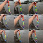 Barn Färgglada Vändskiva Trä Game Pedagogiska Leksaker Barnprodukter