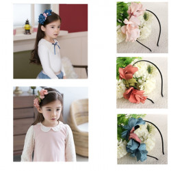 Children Girls Flower Hairband Princess Hair Circle Accessories