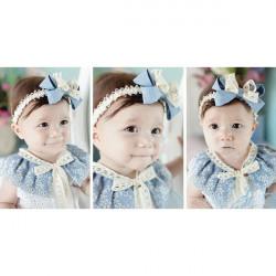 Children Girls Lace Decorated Flower Hairband Hair Accessories
