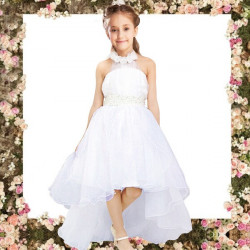 Children Girls Princess Party Skirt Christening Wedding Prom Dress
