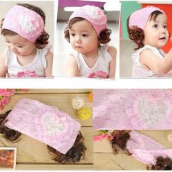 Children Girls Rabbit Pattern Lace Hairband Hair Accessories