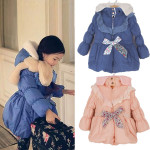 Children Girls Warm Fleece Hoodies Jacket Long Fleece Snowsuits Baby & Mother Care
