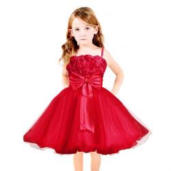 Children Girls Wedding Party Rose Tulle Tutu Princess Dresses