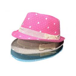 Children High Quality Cowboy Hat Baby Peach Heart Jazz Cap
