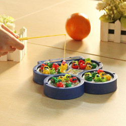 Children Kid Educational Toy Electric Rotating Magnetic Fishing Toy