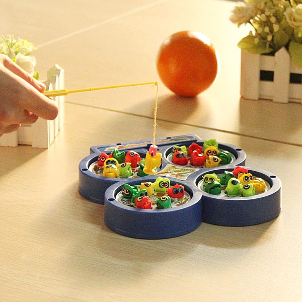 Children Kid Educational Toy Electric Rotating Magnetic Fishing Toy Baby & Mother Care