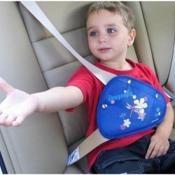 Children Kids Car Safety Belt Adjuster Cartoon Triangle Fixing Device