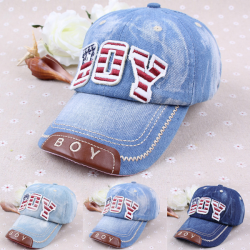 Children Kids Denim Baseball Hat Sun Sports Caps