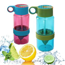 Children Kids Flavored Water Fruit Infusing Infuser Bottle