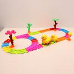 Children Kids Music Duck Rail Car Electronic DIY Development Toy Baby & Mother Care