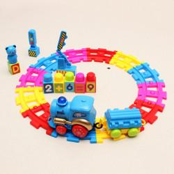 Barn Musik Rail Bil Elektronisk DIY Development Leksak