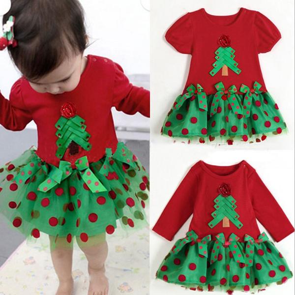 Kinder Kleinkind Mädchen Weihnachten Tress Tutu Kleid Geburtstags T Shirt Baby Kinder & Mutterpflege