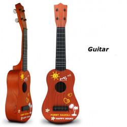 Barn Träfärg Simulering Guitar Utbildnings Musikinstrument