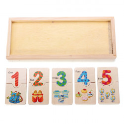 Kinder aus Holz Anzahl Jigsaw Early Learning Education Development Toy