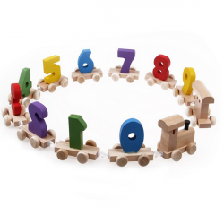 Children Wooden Number Train Digital Educational Toys