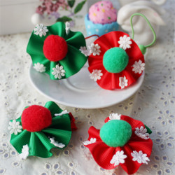 Christmas Baby Snowflake Hairpin Children Hair Rope