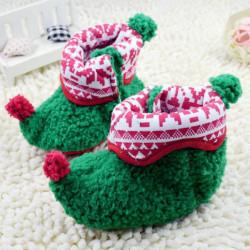 Weihnachtswärmer Baby Kleinkind Neugeborenes Baumwolltuch Schuhe