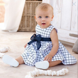 Classical Fashion Dress Baby Big Square Vest Skirt