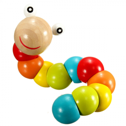 Bunte Twist Raupen Baby Kinder Educational Holzspielzeug