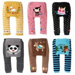 Gulliga Tecknad Filmdjur Style Baby Barn Bomull Leggings PP Byxor Serie C