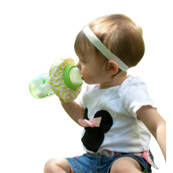 Cute Soft Cotton Baby Bottle Bib Spill Proof Drip Milk Supplies