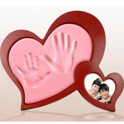 DIY Valentines Gift Heart Hand Inkpad Wedding Love Photo Frame