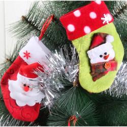 Stoff Weihnachtsschmuck Geschenke Socken Weihnachtsmann Schneemann Elk