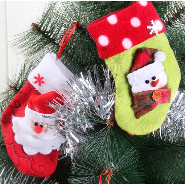 Fabric Christmas Decorations Gifts Socks Santa Claus Snowman Elk Baby & Mother Care
