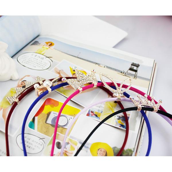 Flickor 5 Designs Rhinestone Kronprinsessan Hårband Håraccessoarer Barnprodukter