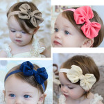 Flickor Nyfödd Baby Rosett Hårband Chiffon Barnprodukter