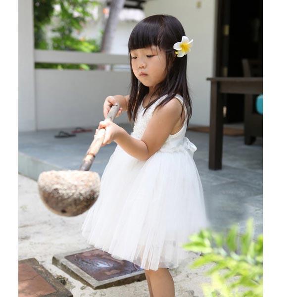 Piger Prinsesse Blomst Lace Rose Nederdel Kjole Baby Gauze Kjole Børn  & Babyudstyr
