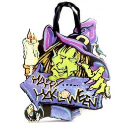 Halloween Papier Hexe Muster Süßigkeit Geschenk Tasche
