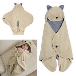 Säuglings Baby Wickeltisch Warme Decke mit Kapuze Schlafsack Wrap