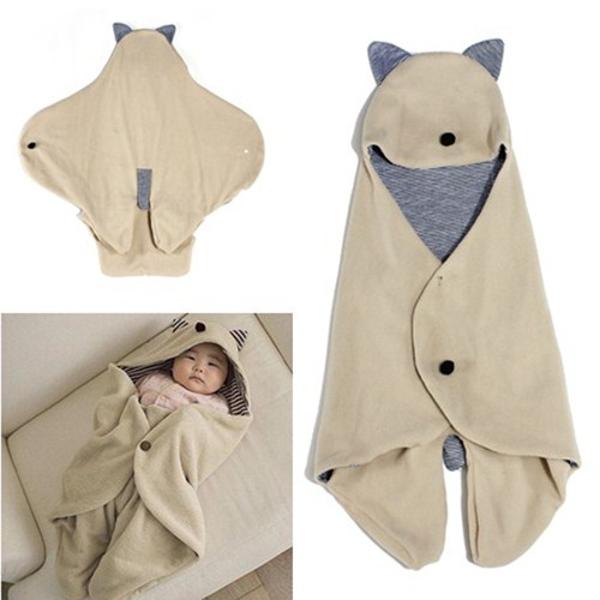 Säuglings Baby Wickeltisch Warme Decke mit Kapuze Schlafsack Wrap Baby Kinder & Mutterpflege