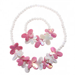 Kid Baby Girl  Beads Flower Butterfly Jewelry Set Necklace Bracelet